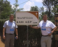 Todd and Trent Courage in Rwanda.