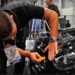 Jose Pichardo installs Solar Gard's Clearshield Pro paint protection film on a Mini Cooper.