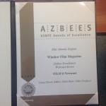 The ASPBE Gold Regional Award.