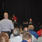 Jack Welch takes an audience member's question at WFCT.