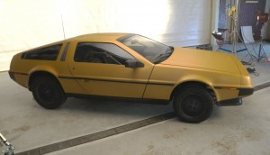 3M's gold-wrapped DeLorean. Its color was changed to gold with the company's 1080 vinyl.